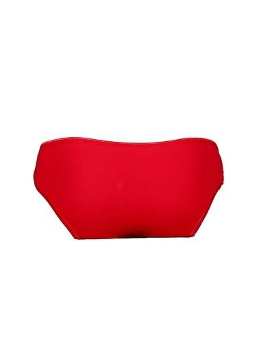 T-Box T-Box Kalp Baskılı Kırmızı Yüksek Bel Külot Kırmızı